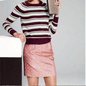 J crew metallic peach mini skirt